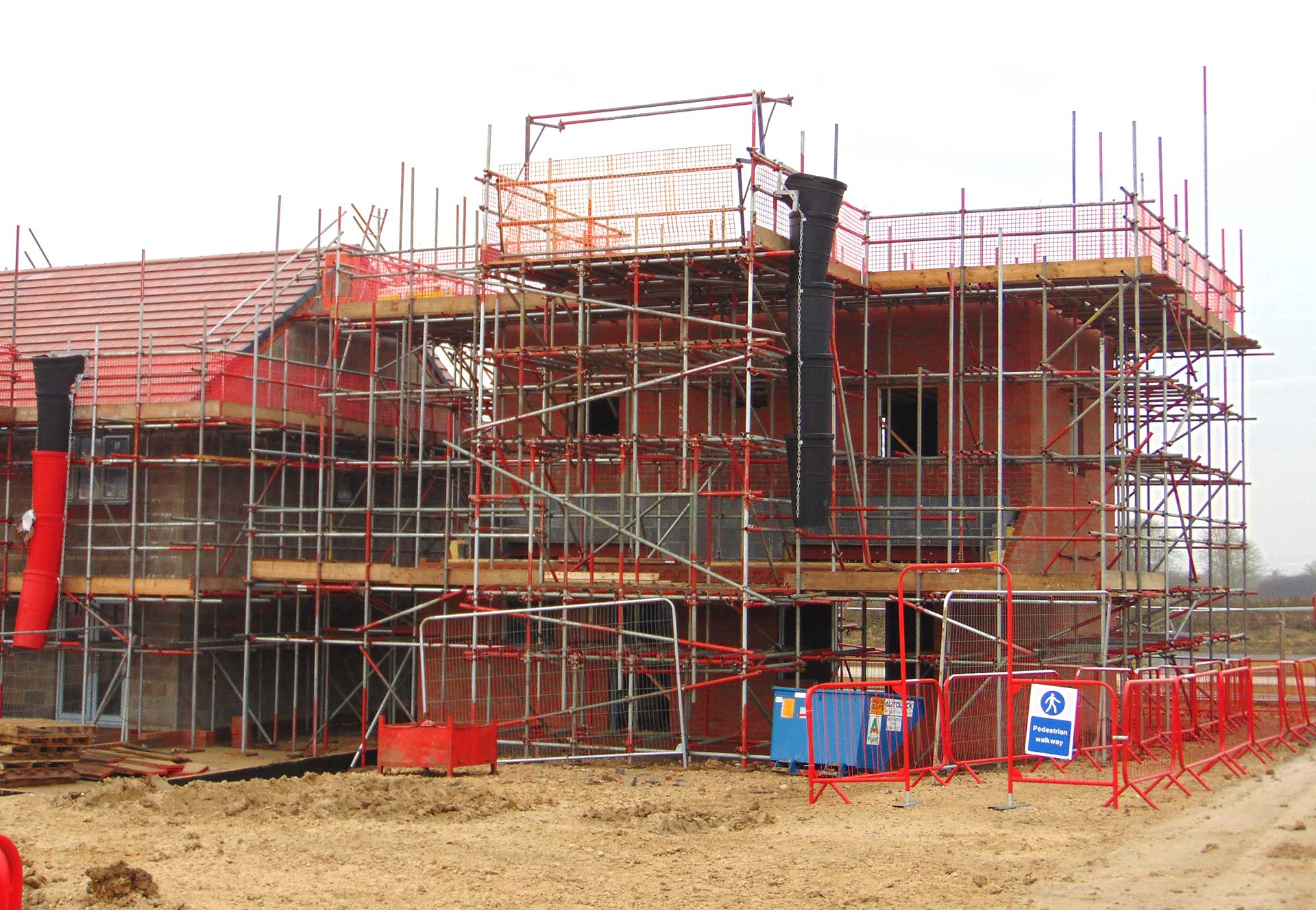 New build scaffolding, Corby