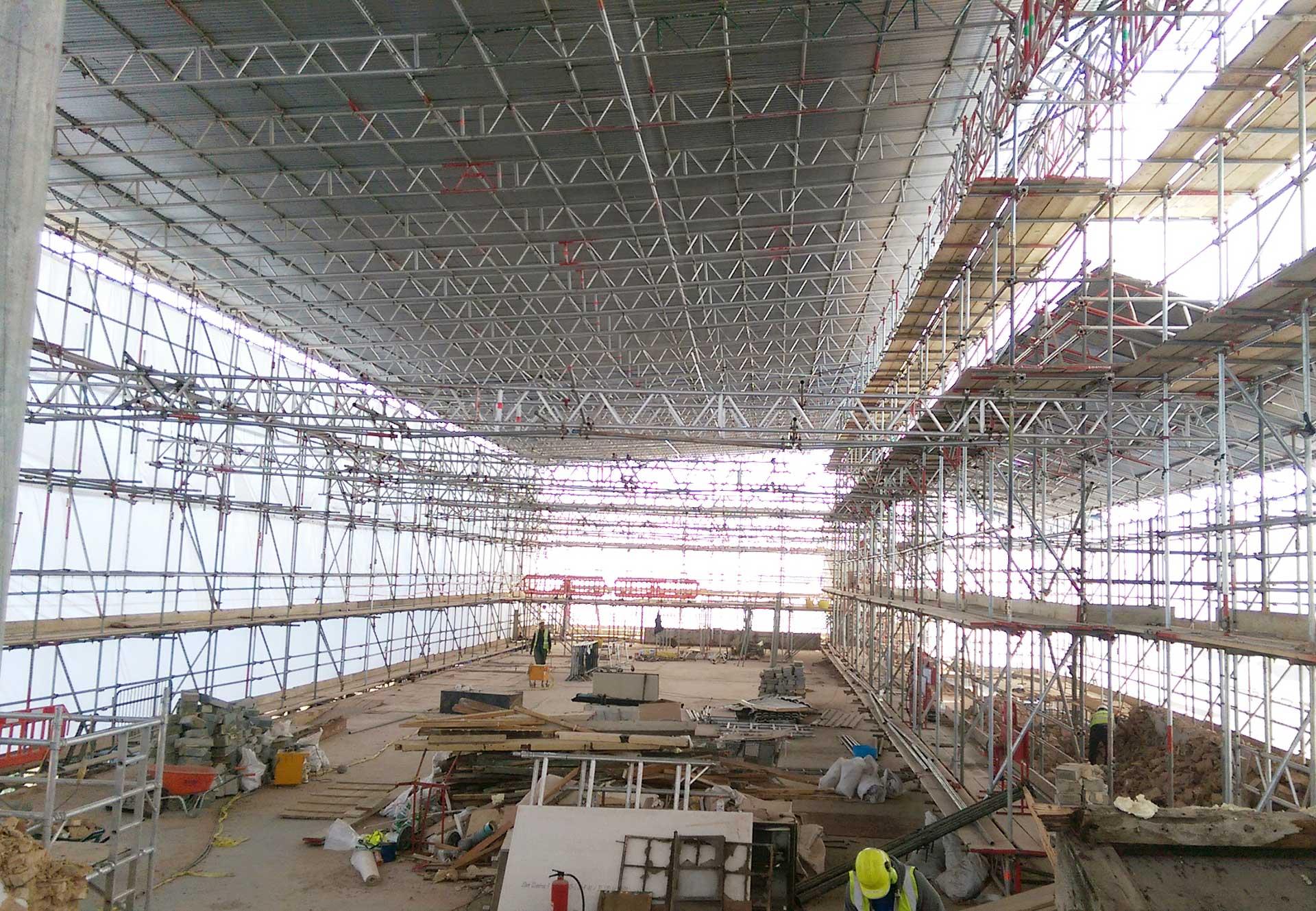 Specialist scaffolding, West Norwood