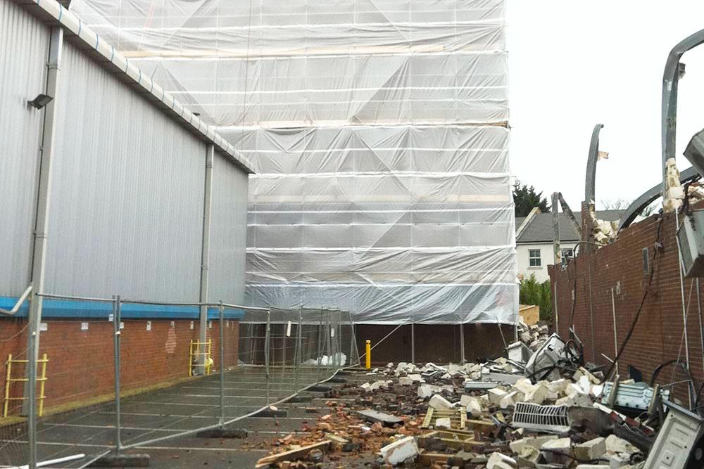 Demolition works Dunstable